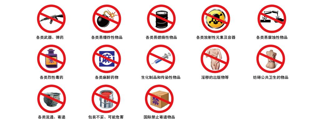 跨越速运航空违禁品